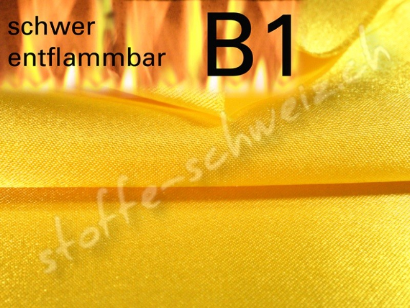 Satin B1 Stoff permanent schwer entflammbar 3,0m breit