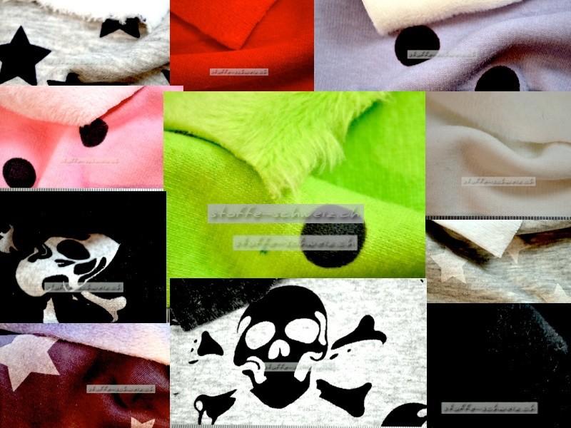 Alpenfleece Sweatshirtstoff div. Muster