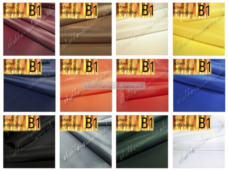 Stoff Taft Dekoration Dekorationstaft B1 div. Farb