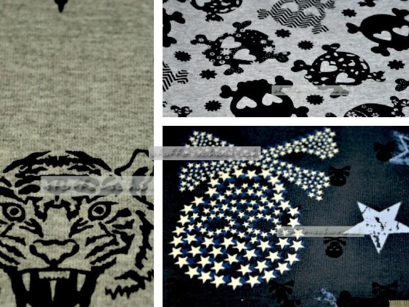 stoff baumwoll stretch jersey div muster. Black Bedroom Furniture Sets. Home Design Ideas