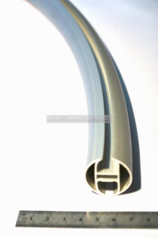 Alu Profil Schiene Rund 2-fach Nut Bogen