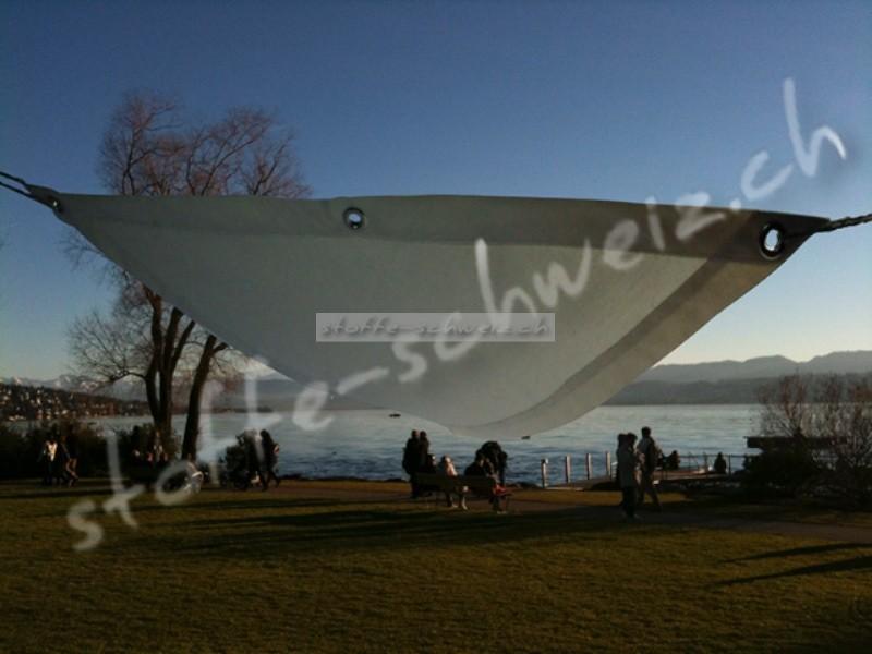 Segeltuch HighTech wasserdicht FixFertig Dreieck 3x3m weiss