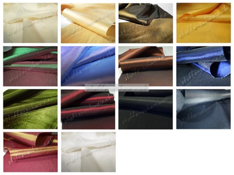 1a Stoff Taft Kleidertaft Deluxe in div. Farben