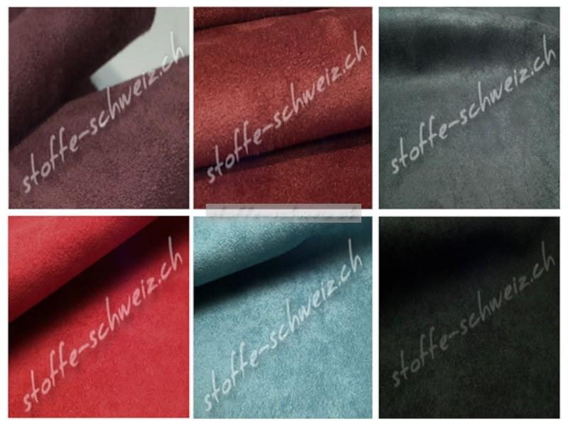 Musterkarte Farbkarte Velourleder Microfaser