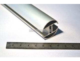 Alu Profil Schiene rund 2 Kanal 30mm pro Laufmeter