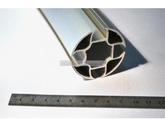 Alu Profil Schiene rund 4 Kanal 50mm pro Laufmeter