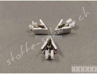 20 Faltengleiter X-Gleiter mit Clip Gardinenröllchen Gardinenhaken