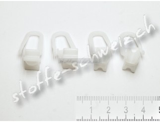 20 Faltengleiter X-Gleiter Gardinenröllchen Gardinenhaken