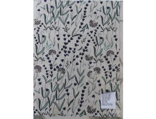 EDEL Leinen Stoff 100% Leinen Lavendel Gras Druck ca. 142 cm breit
