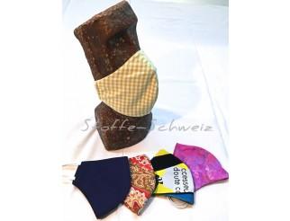 1a Mundschutz Hygiene Maske 100% Baumwolle in div. Farben mit Gummi
