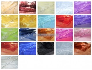 1a Organza Stoff div. Farben