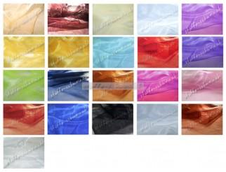 Organza B1 Trevira CS Stoff div. Farben 3,0m breit