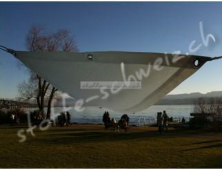 Segeltuch Dreieck Wasserdicht sand 500 x 500 fix fertig genäht