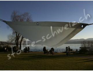Segeltuch HighTech wasserdicht FixFertig Dreieck 3x4m weiss