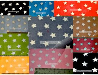 Baumwolle Stoff Sterne mittel 1,45 m breit
