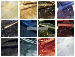 1a Stoff Taft Kleidertaft Deluxe bestickt div. Farben