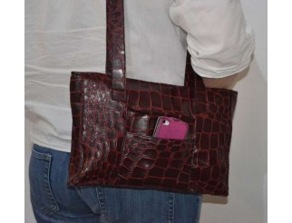 Handtasche Tasche Krokodil Leder Imitat Unikat