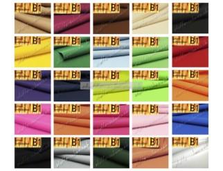 Tischdeckenstoff B1 div. Farb schwer entflammbar