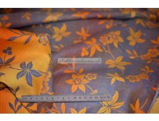 Vintage Retro Stoff gewebt mit Blumenmuster