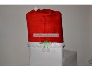 Weihnachtliche Stuhlhusse Santamütze Hussen